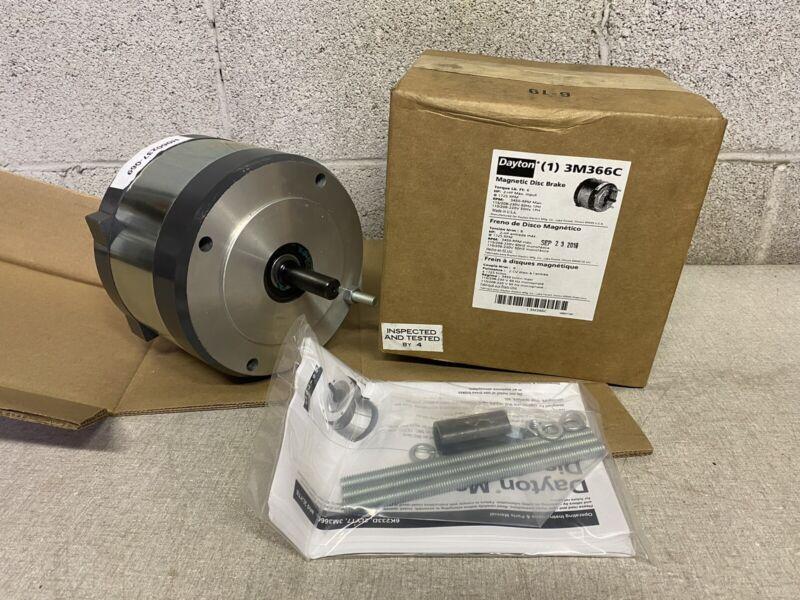 DAYTON C- Face Magnetic Disc Brake, 5/8 Shaft Dia, 3M366C New