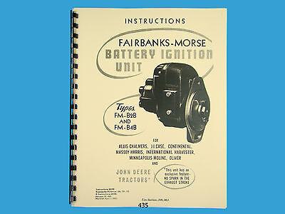 Fairbanks Morse Magneto Instruct Parts Manual For Fm-b2b Fm-jb4b Mags 435