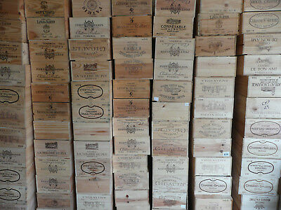 Wooden Wine Box Crate ~ 12 bottle. French Genuine Shabby Chic, Vintage.