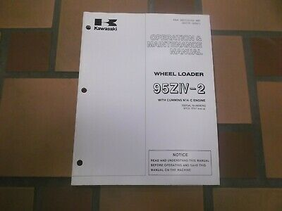 Kawasaki 95ziv-2 Wheel Loader Owner Operator User Guide Maintenance Manual