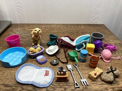 Barbie Doll Lot Dog, Dog Accessories, Horse Accessories