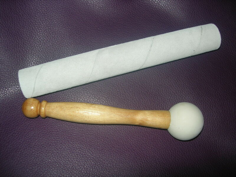 suede stick and rubber mallet for Crystal Singing Bowl