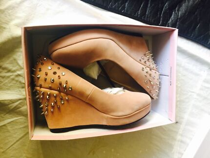 Size 12 Wide diamond spike Barefoot Tess wedge heels Morley Bayswater Area Preview