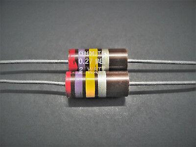 2 2w 5 10 Carbon Comp Resistors Ohmite Allen Bradley Vintage Nos Oh Series