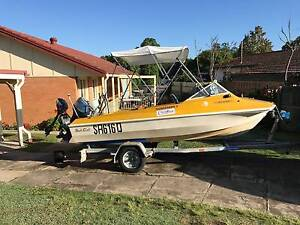 Swift Craft Sea Otter with 50 hp Tohatsu outboard & 3.3 hp Merc Jindalee Brisbane South West Preview
