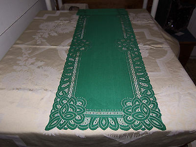 Green design Table Runner 52 x 14