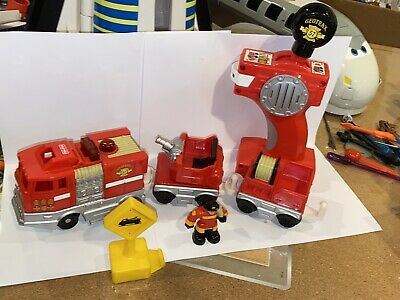 Fisher Price GeoTrax Rapid Rescue Fast Response Fire Remote Control Train Works