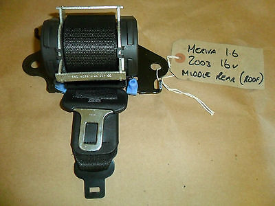 VAUXHALL MERIVA 03-09 REAR CENTRE SEAT BELT 04167074