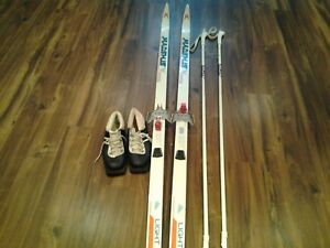 Skis, Boots Size 6.5 and Poles