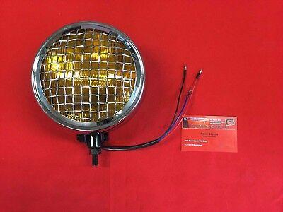 Zusatzscheinwerfer Gelb mit Gitter für Volkswagen & Porsche Zusatzleuchte (-046)