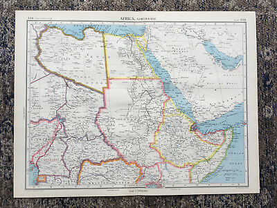 C1951 Antique Map Africa North East Sudan Large J G Bartholomew