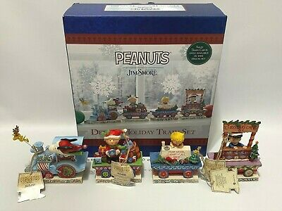 Peanuts Jim Shore Charlie Brown Christmas Figurine Train Set Exclusive Sally