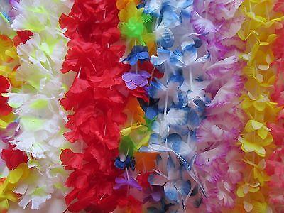 50 Simulated Silk Leis Lei Hawaiian Luau Party Favors Sup...