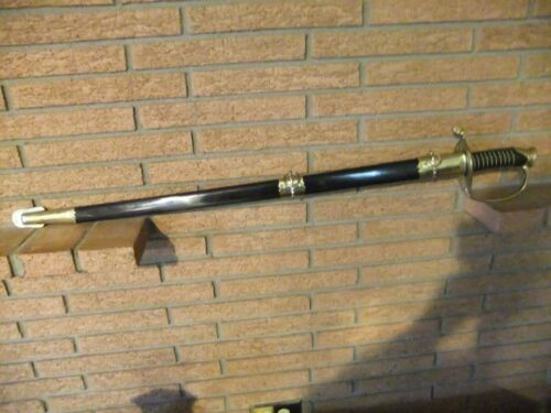 Civil War W,J. McElroy Co. CSA Officer Sword Reproduction - Rare Find