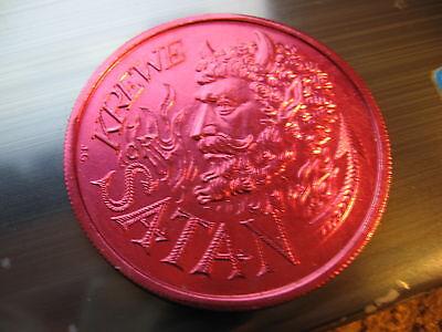 attila the hun satan devil 1978 Mardi Gras Doubloon Coin new orleans
