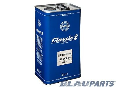 RAVENOL Classic 50-er 20W-50 Motor Oil 5L | API SC Vehicles Prior To 1967