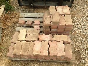 Interlocking  Red shale  bricks