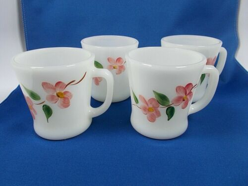 Vintage Fire King Blossoms Gay Fad Coffee Cup Mugs 4