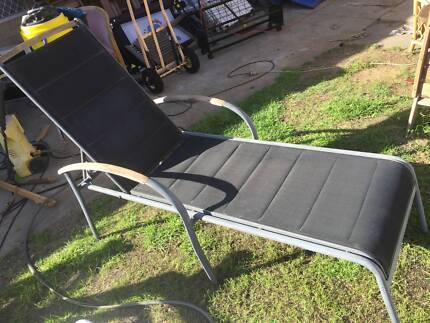 Old Aluminum Sun Lounge