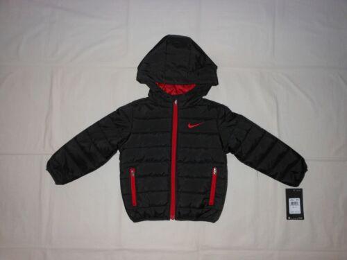 NWT Nike Toddler Boys black puffer jacket, Size 18M 2T 3T