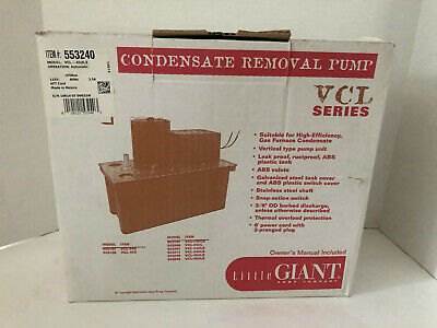 Little Giant 553420 Model Vcl-45uls Condensate Removal Pump