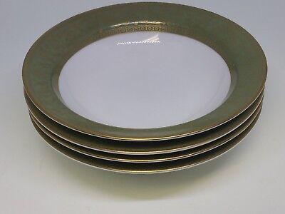 SANGO China VERSAILLES Olive Green Gold Floral - (4) Rim Desert Bowls 5 1/2