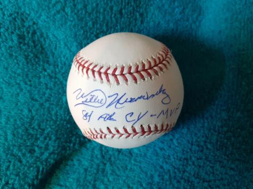 Detroit Tigers Willie Hernandez  autographed ML baseball 84 AL Cy MVP added
