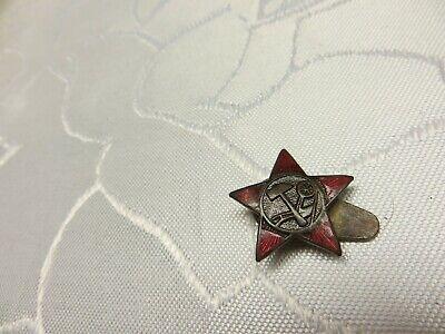 neuwertig 5 Stück DDR Mützenkokarde Textil gold-rot-schwarz