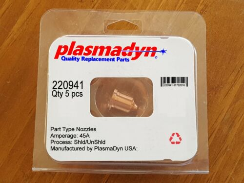 5pc x 220941 - 45A Nozzles - Mfg & Sold by PlasmaDyn - no knockoff *JUNK* here