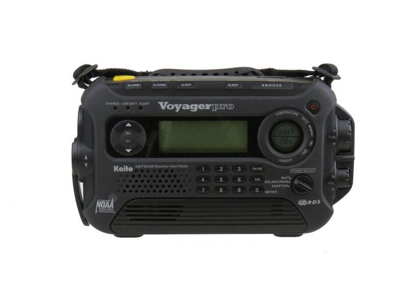 Used Kaito KA600 Solar Crank NOAA Weather Radio with AM FM Shortwave