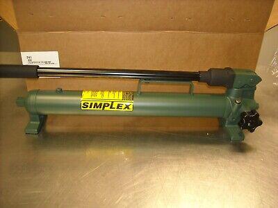 P41 Simplex 1 Speed Hand Pump 10000 Psi Oil Capacity 40cu.in.