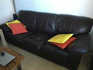 Italian leather 3 seater lounge Bondi Eastern Suburbs Preview
