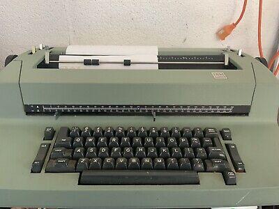 Green Ibm Correcting Selectric 2 Ii Electric Typewriter Ii. Powers Up