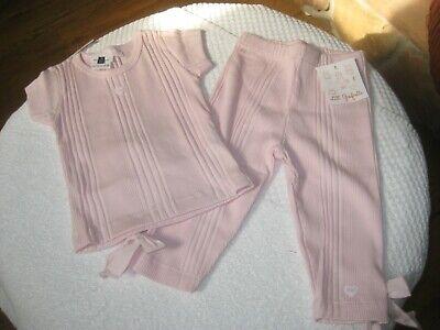 NWT Lili Gaufrette 3y Girl Pink Pant Set NWT