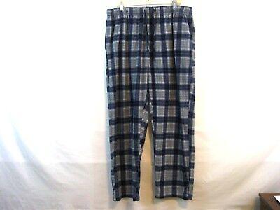 Nautica Mens Cozy Plaid Fleece Pajama Pants Blue Gray XL