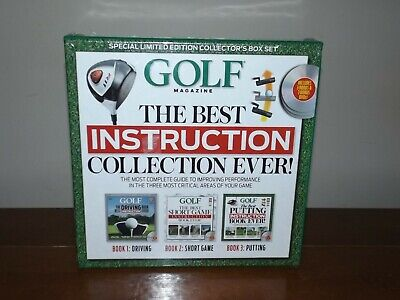 NEW- Golf The Best Instruction Collection Ever! 1 Driving 2 Short 3 Game (Best Driving Instruction Books)