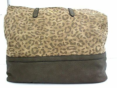 Splendid Emerald Bay Leopard Tote Bag Retail $118 NWT