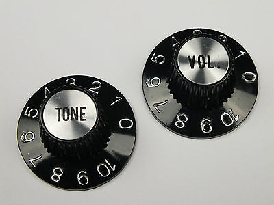 Pair of WITCH HAT KNOBS 1 VOL. 1 TONE Chrome or Gold USA Gibson correct style