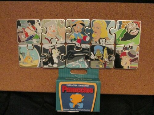 Disney Pinocchio Character Connection Mystery Puzzle - Complete 10 pin Set
