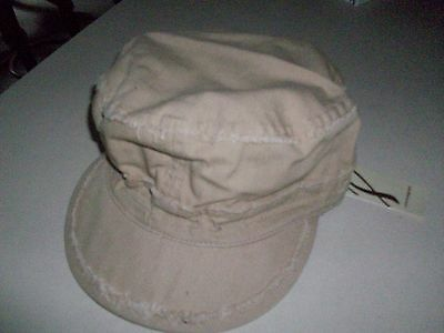 NEW LADIES COLLECTION 18 BASEBALL PAINTERS HAT CAP FRAYED DISTRESSED KHAKI TAN S