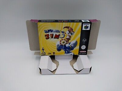 Earthworm Jim 3D - reproduction box with insert - N64 - Pal REGION. HQ !!