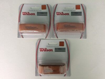 New Wilson Leather replacement grips,Premium, tennis,squash,badmitton,3 Brown