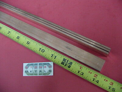 4 Pieces 18 X 34 C110 Copper Bar 14 Long Solid Flat Mill Bus Bar Stock H02