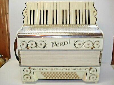 "ATTIC FIND - Vintage H. HOHNER - "" VERDI ""  ACCORDION REPAIR OR PARTS"