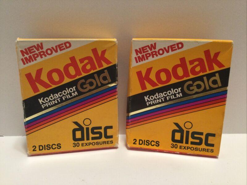 Kodak Disc Film Kodacolor Gold 2-15 SEALED Film Disks for Disc Cameras Lot Of 2