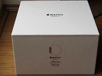 APPLE WATCH SERIES 3 38MM ROSE GOLD SPORT BAND (GPS & CELLULAR) BRAND NEW