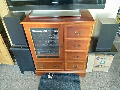 vintage philips hi fi stereo system with turntable and speakers plus cabinet