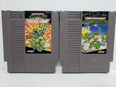 Teenage Mutant Ninja Turtles 1 & Arcade TMNT NES Nintendo Original Tested