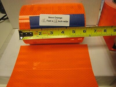 3m Brand Neon Orange Reflective  Conspicuity Tape 5-78 X 18 Ft Very Thick