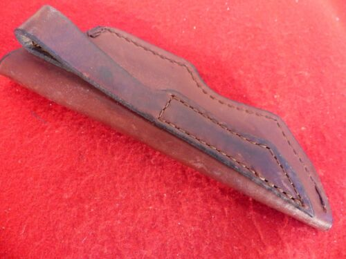 """Schrade USA genuine leather sewn pouch sheaths up to 4"""" blade new old stock"""